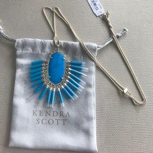 Kendra Scott NWT Aqua Betsy necklace